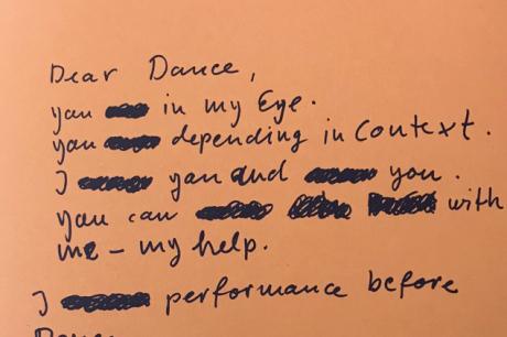 A Letter to Dance, by Anne Teresa De Keersmaeker