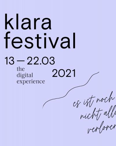 Klarafestival 2021 launches from Kaaitheater